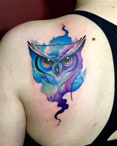owl watercolor tattoo owl watercolor by juan david castro r owl color