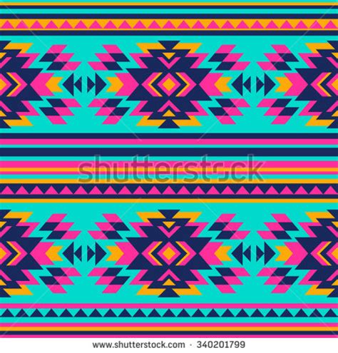 navajo colors multicolor tribal vector seamless navajo pattern stock