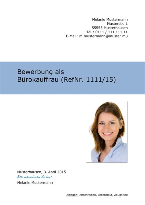 Bewerbung Ausbildung Deckblatt Vorlage Word Deckblatt In Der Bewerbung 252 Ber 100 Kostenlose Muster Vorlagen