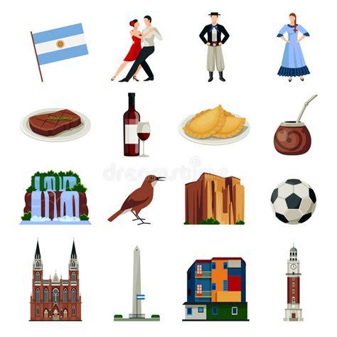 raccolta clipart raccolta piana delle icone di simboli dell argentina