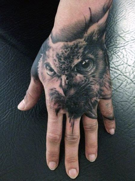 owl tattoo designs on hand owl hand tatoo image 3469677 by tattooamazing on favim com