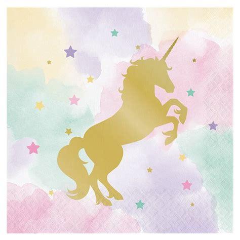 Unicorn Pastel pastel unicorn napkins fancy me limited