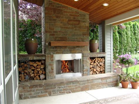 Outdoor fireplace bull mountain traditional patio portland by brown bros masonry