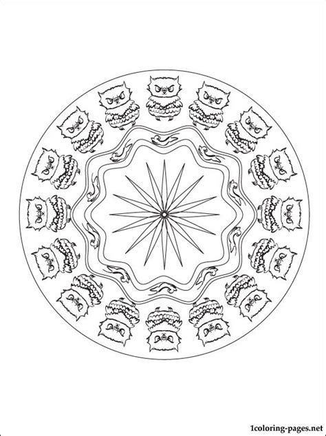 coloring pages mandala owl mandala coloring page with owl free printable page with
