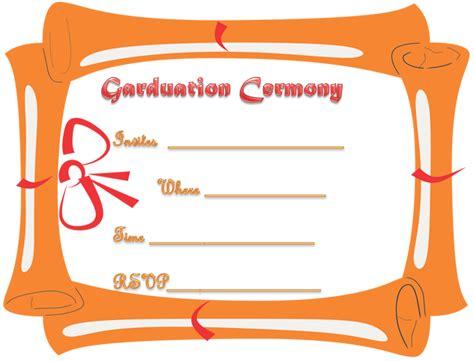printable graduation ceremony invitation template