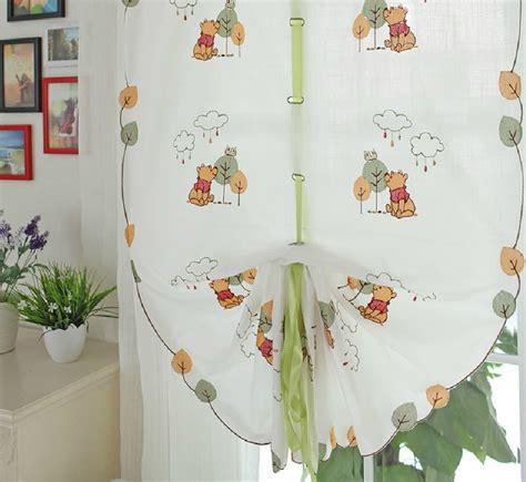 winnie the poo curtains winnie the pooh tie up curtains for kid s room baby
