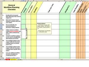 workflow spreadsheet template electronic rfp software selection workflow checklist