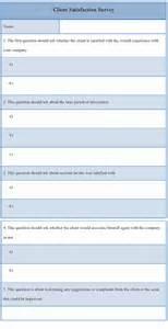 survey template for client satisfaction format of client
