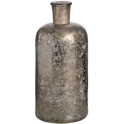 Silver Mercury Vase by Antique Silver Mercury Glass Bottle Vase From Hill Interiors