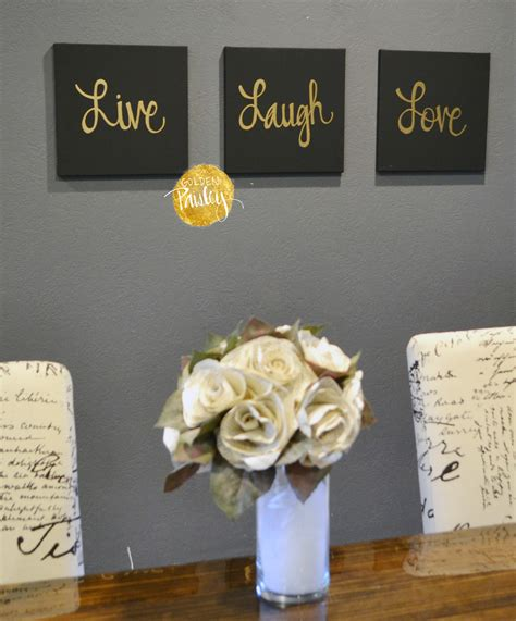 Wall Decor Sets by Live Laugh Black Gold 3 Wall Decor Set