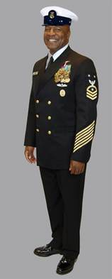 at what rank do u s navy uniforms become the that