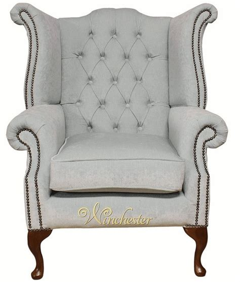 duck egg blue leather sofa chesterfield fabric queen anne high back wing chair duck