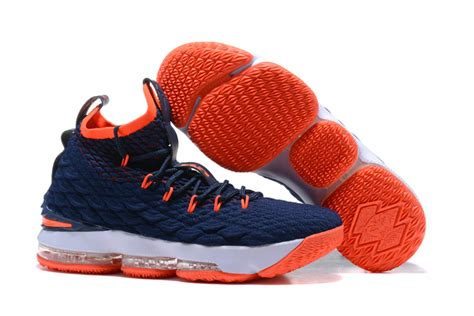 shoes for sale 2017 nike lebron 15 navy blue orange white shoes for sale
