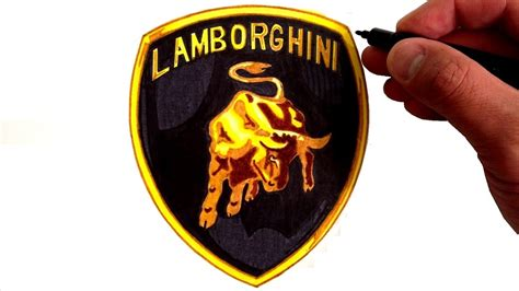 lamborghini logo black and white how to draw the lamborghini logo youtube
