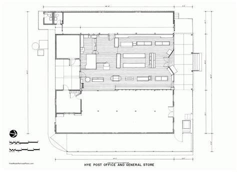 post office floor plan free plans post office general store hye texas free