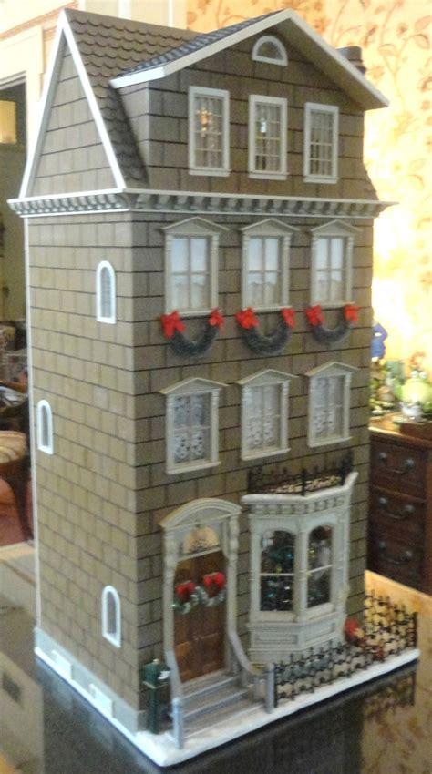 christmas doll houses dollhouse doll house pinterest