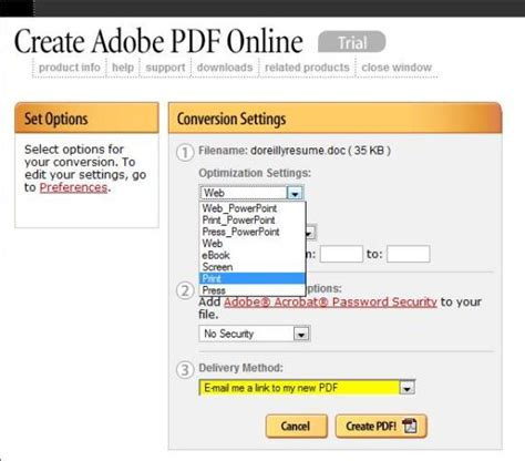 tiollotonak create adobe pdf free