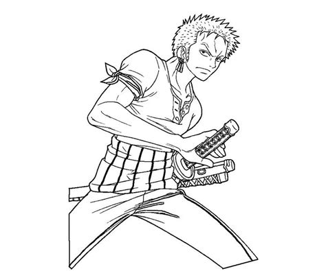 coloring page zoro roronoa zoro 8 coloring crafty teenager