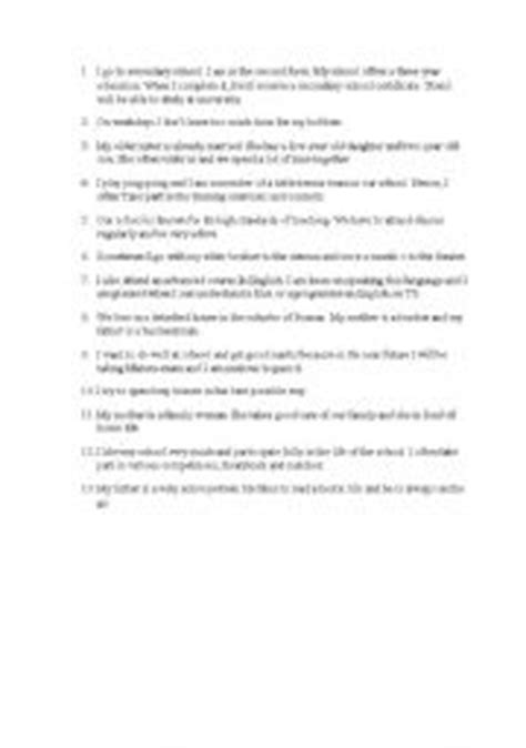 Introduction Letter Exchange Student Worksheets A Letter To An Exchange Student