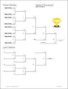 Elimination Tournament Bracket Template by 4 Team Bracket Template Elimination