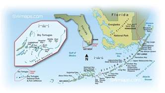 Florida Keys Map by Florida Keys And Dry Tortugas Map Swmaps Com