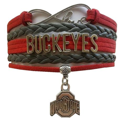 ohio state fan gear ohio state buckeyes fan shop infinity bracelet jewelry