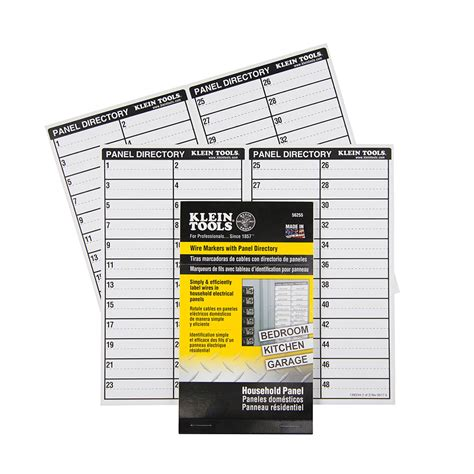 wire markers household electric panel w directory 56255