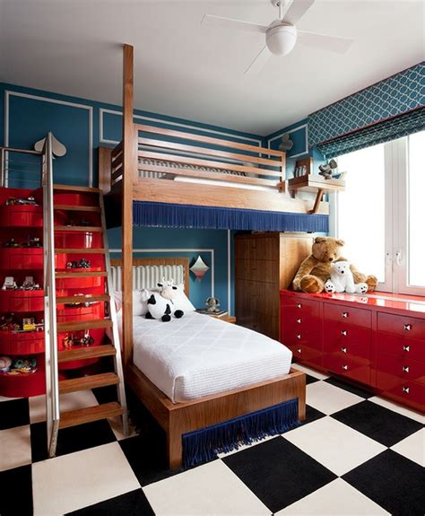 red white and blue sports themed boys room interior bedroom safety kids tweens and teens
