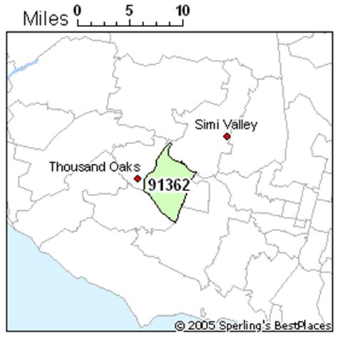 thousand oaks zip code map best place to live in thousand oaks zip 91362 california