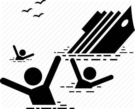 accident boat cruise drowning ship sinking titanic icon - Boat Sinking Icon