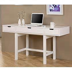 plateau gloss white computer desk from overstock