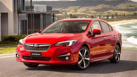 red subaru sedan subaru impreza 2 0i s sedan 2017 review snapshot carsguide