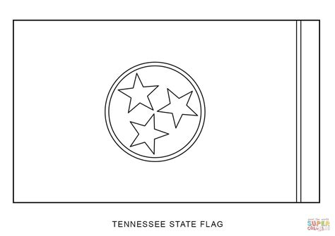 tennessee state flag coloring page free printable