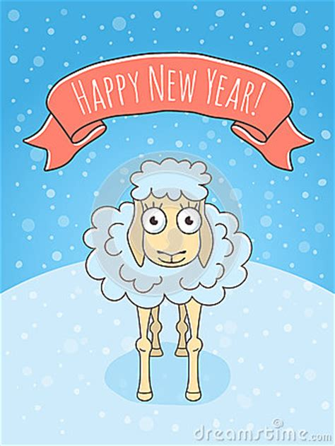 new year sheep facts new year sheep stock vector image 48498821