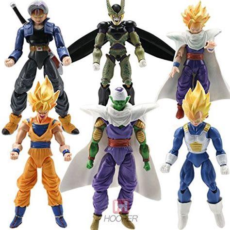 amazon com 6pcs set arts 6pcs anime figure toys goku piccolo set