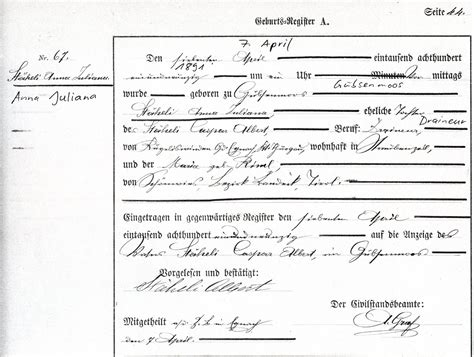 Swiss Birth Records Swiss Birth Records Carl Paul Franziska Rosa The Staeheli Family Of