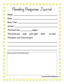 Reading Response Worksheets   Have Fun Teaching