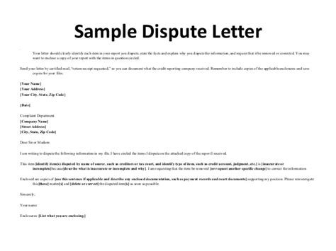 Credit Dispute Letter To Experian West Point Fcra Presentation 10 29 15 Updated