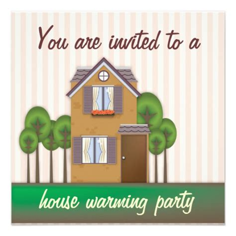 House Warming by House Warming 5 25x5 25 Square Paper Invitation Card Zazzle