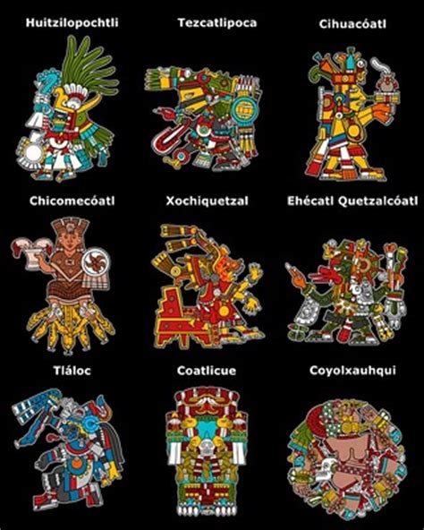 imagenes de los aztecas de los dioses imagenes aztecas