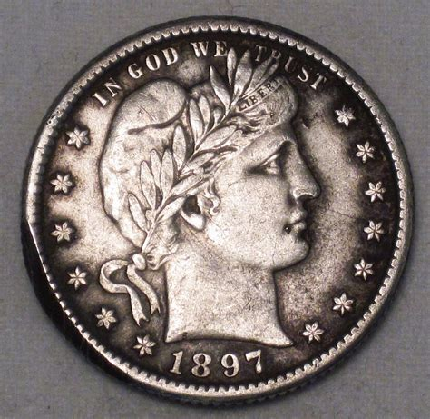 barber quarter 1897 o high xf grade old us silver coin wdee 12 275 00 decatur coin and
