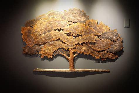 copper wall repousse sculpture and metal art artist sculptor