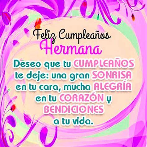imagenes bellas de feliz cumpleaños hermana bonitas tarjetas de cumplea 241 os hermana gratis imagenes