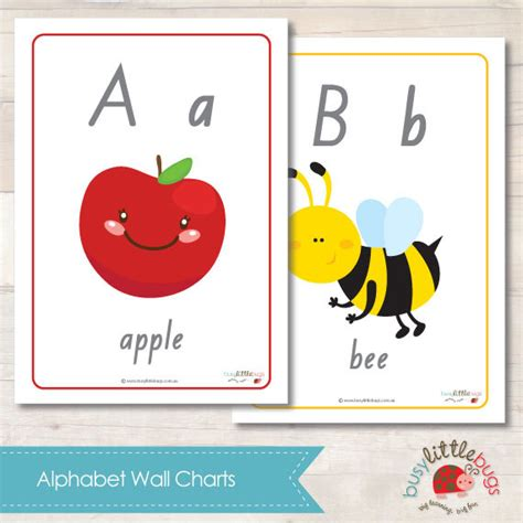 printable alphabet a4 size a4 size alphabet wall chart automatic by busylittlebugsshop