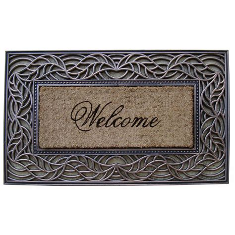 Decorative Door Mat by Impression Welcome Decorative Door Mat Jet