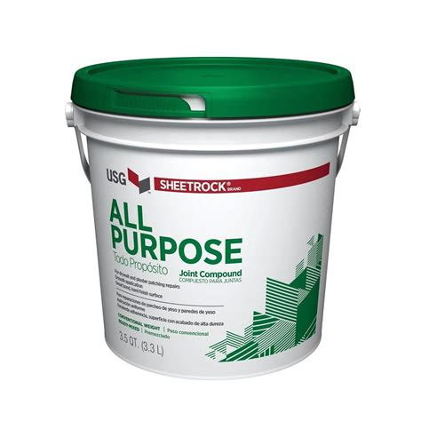 sheetrock all purpose 3 5 qt pre mixed joint compound