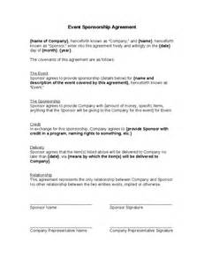 Event Management Agreement Template by Event Sponsorship Agreement Hashdoc