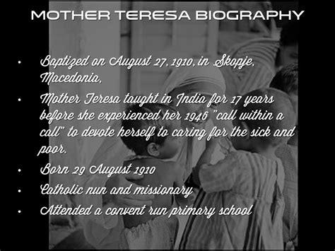 mother teresa biography powerpoint neilson mandela by mikaela bentley