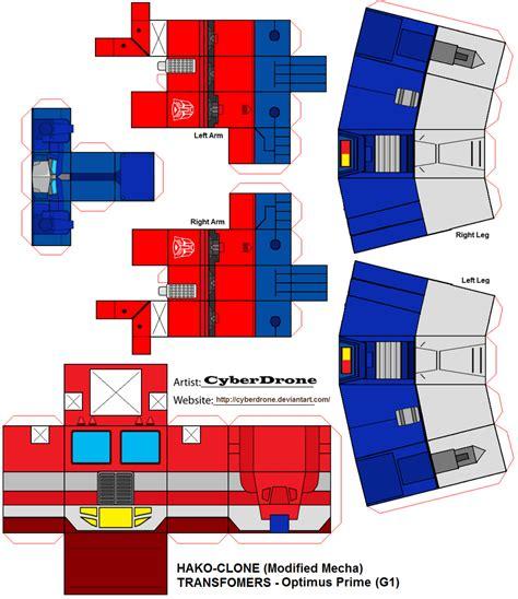 Papercraft Transformers Optimus Prime - hako clone optimus prime g1 by cyberdrone on deviantart