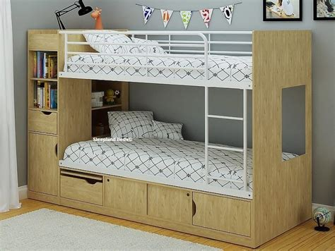 Single Bunk Bed With Storage Single Platinum Bunk Beds With Extra Storage White